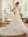 75% OFF on Organza Applique Sweetheart Beaded Court Train Wedding Dress