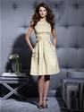 Extra 6% OFF Straps Pleats Satin Knee-length Bridesmaid Dress.
