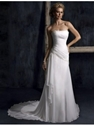 Extra 12% OFF Chiffon Court Train Strapless Sheath Wedding Dress.