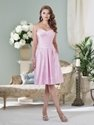 50% OFF For A-line Satin Pleated Knee-length Bridesmaid Dress