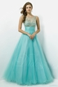 65% OFF on Bateau Neckline Tulle Ball Gown Beaded Floor-length Prom Dress