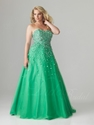 Extra 10% OFF on Princess Sweetheart Tulle with Sequins Plus Size Prom Dress